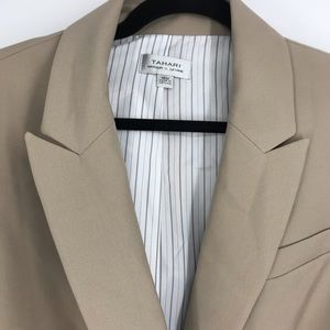 NWT Tahari blazer jacket camel 18W